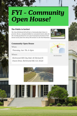 FYI - Community Open House!