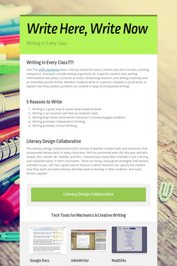 Write Here, Write Now