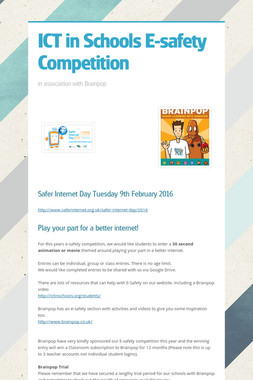 ICT in Schools E-safety Competition
