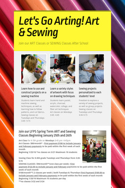 Let's Go Arting!  Art & Sewing