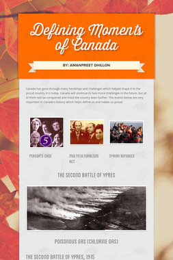 Defining Moments of Canada