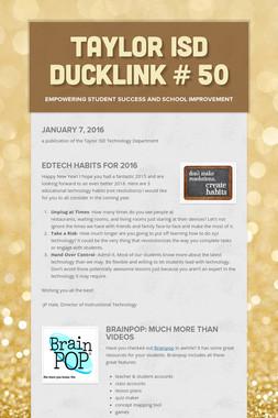 Taylor ISD DuckLink # 50