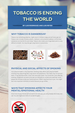 Tobacco is ending the world