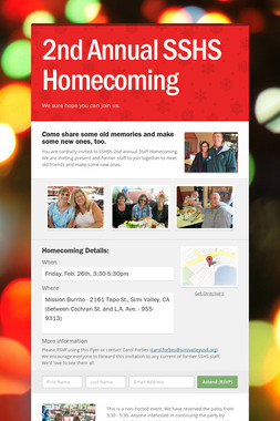 2nd Annual SSHS Homecoming