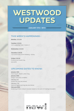 Westwood Updates