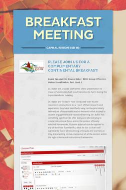 Breakfast Meeting