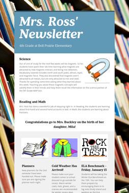 Mrs. Ross' Newsletter