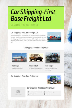 Car Shipping-First Base Freight Ltd