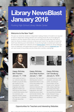 Library NewsBlast January 2016