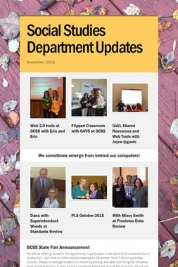 Social Studies Department Updates