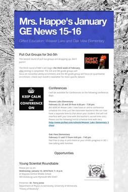 Mrs. Happe's  January GE News 15-16