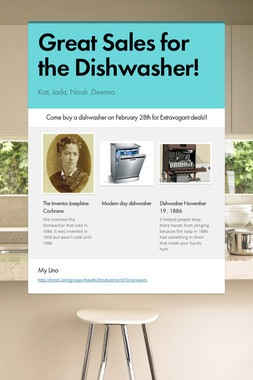 Great Sales for the Dishwasher!