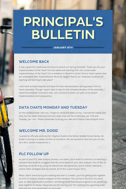 Principal's Bulletin