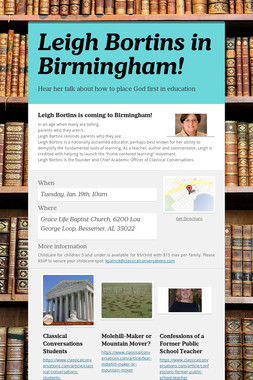 Leigh Bortins in Birmingham!