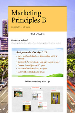 Marketing Principles B