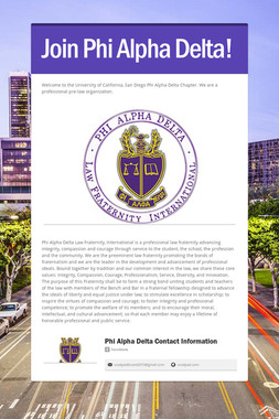 Join Phi Alpha Delta!