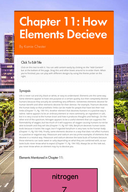 Chapter 11: How Elements Decieve