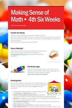 Making Sense of Math• 4th Six Weeks