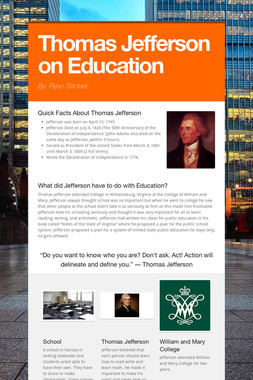 Thomas Jefferson on Education