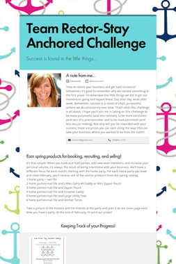 Team Rector-Stay Anchored Challenge