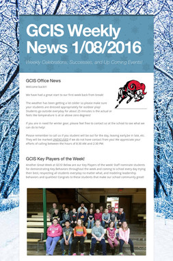 GCIS Weekly News 1/08/2016
