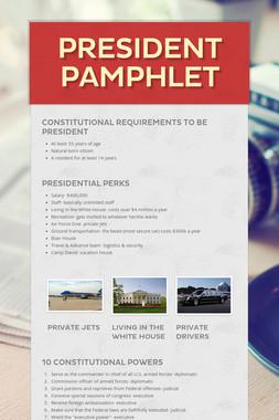 President Pamphlet