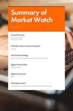 Summary of Market Watch