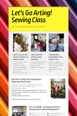Let's Go Arting!   Sewing Class