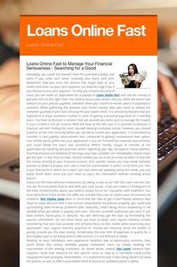Loans Online Fast