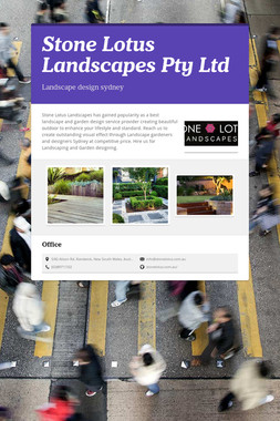 Stone Lotus Landscapes Pty Ltd