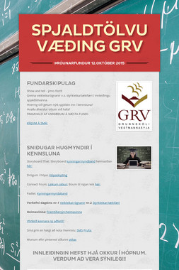 Spjaldtölvuvæðing GRV
