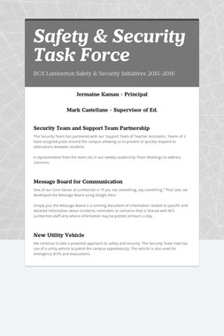 Safety & Security Task Force
