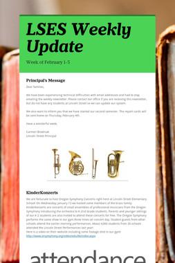LSES Weekly Update