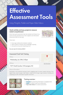 Effective Assessment Tools