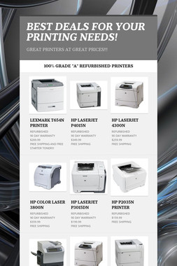 BEST DEALS FOR YOUR PRINTING NEEDS!