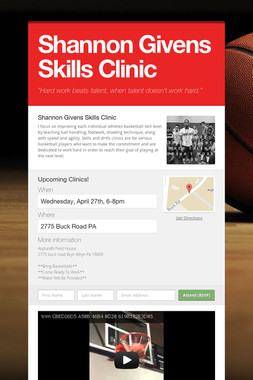 Shannon Givens Skills Clinic