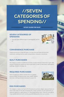 //Seven Categories of Spending//