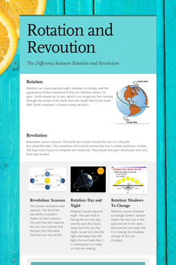 Rotation and Revoution