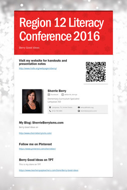 Region 12 Literacy Conference 2016