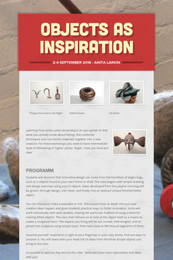 objects as inspiration