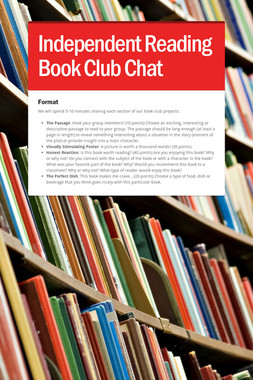 Independent Reading Book Club Chat