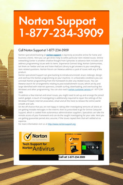 Norton Support 1-877-234-3909