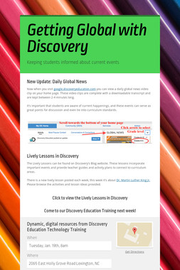 Getting Global with Discovery