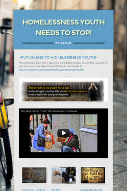 Homelessness youth needs to STOP!