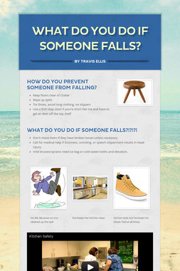 What do you do if someone falls?