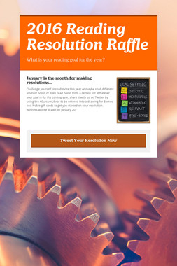 2016 Reading Resolution Raffle