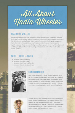All About Nadia Wheeler