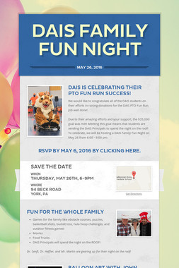 DAIS Family Fun Night