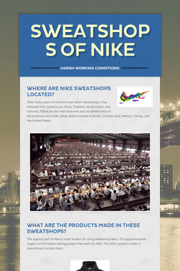 Sweatshops of Nike
