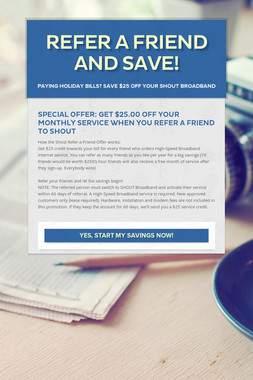 Refer a Friend and Save!